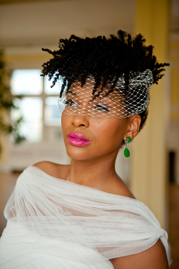 Black wedding hairstyles for the Au Naturale Bride