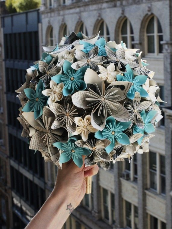 News paper wedding bouquet