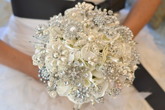 wedding bouquet brooch