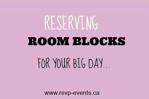 Hotel room blocks