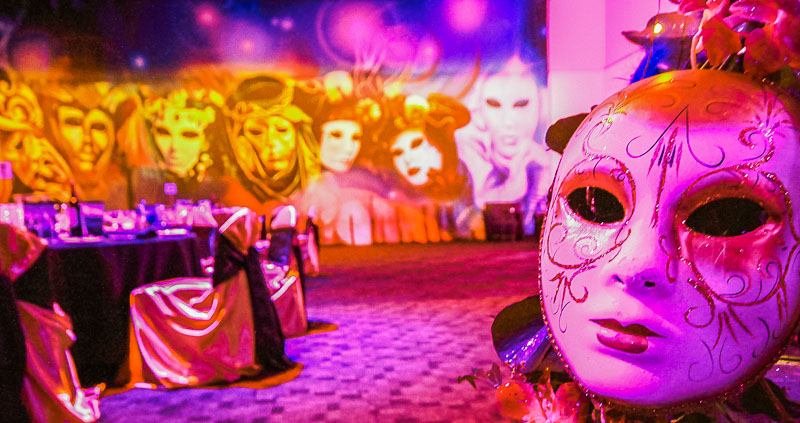 Masquerade ball themed event