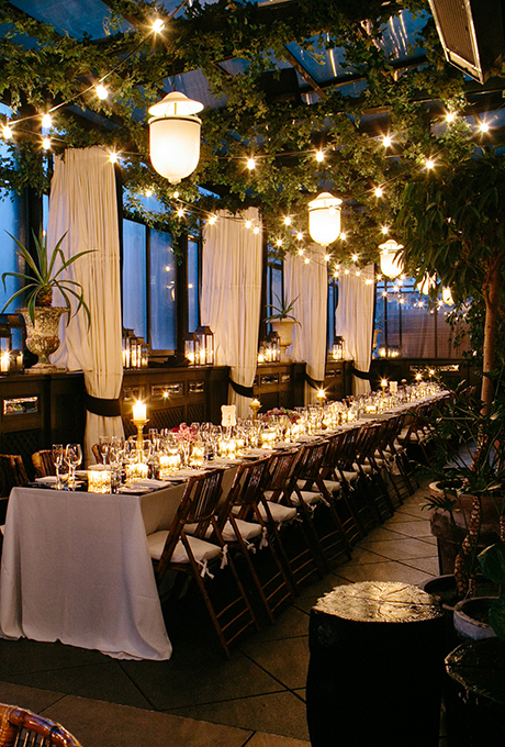 Contemporay wedding decor