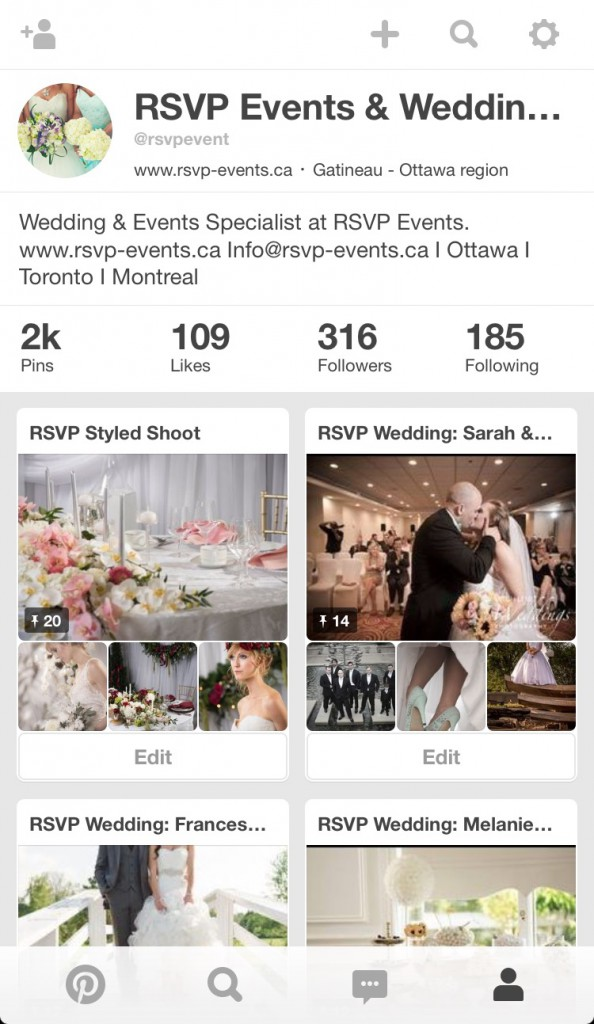 How to plan a wedding using Pinterest