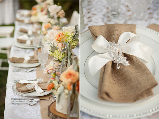 burlap wedding decorations