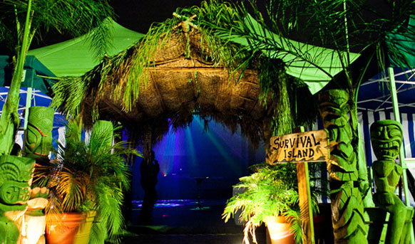 Tiki Beach corporate event